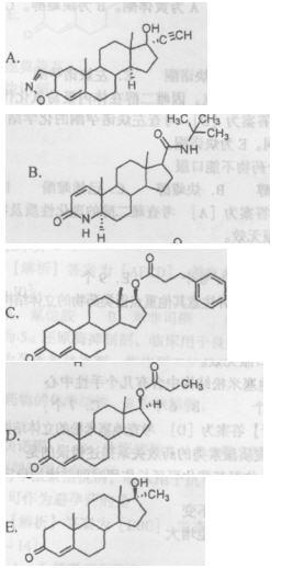 苯丙酸诺龙的化学结构是(