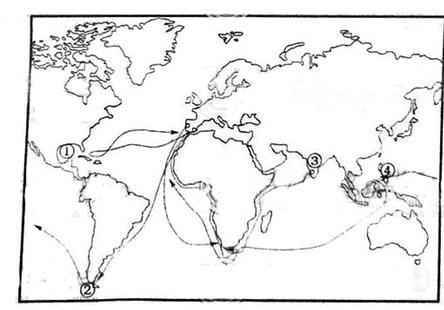 世纪初的航海路线图