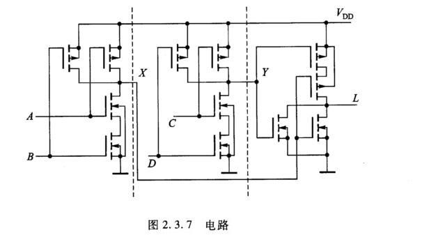 7所示的cmos电路,写出其逻辑表达式,说明它是什么逻辑电路?