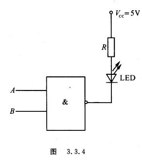 二极管(led),已知led正向驱动压降为2 v,驱动电流为10 ma,ttl与非门输