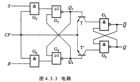 锁存器的逻辑电路如图4.3.3所示.试分析电路的工作原理,列出特性表.
