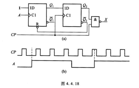 已知电路和时钟脉冲cp及输入信号a的电压波形如图4.4.