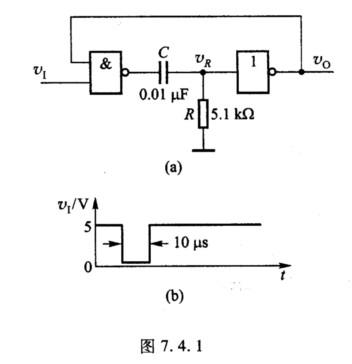 由cmos门构成的电路及输入信号如图7.4.1所示,如果voh