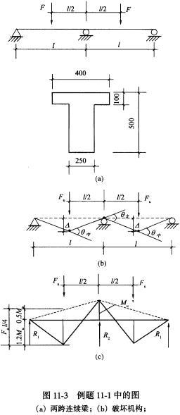 如图11-3(a)所示的两跨连续梁,T形截面,仅v截面船舶毕业设计图片