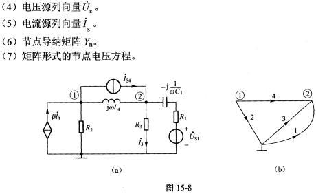 电路如图15.8(a)所示,图15.8(b)为电路的拓扑图
