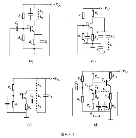 1的交流等效电路,并用振荡器的相位条件?