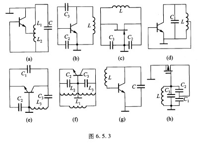 3所示的三点式振荡器交流等效电路,哪个是错误的(不可能振荡),哪个是