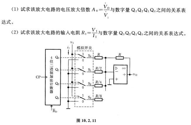 一程控增益放大电路如图10.2.