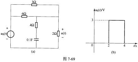 (重庆大学2006年考研试题)如图7一69(a)所示电路中的