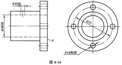 把下列形位图纸要求标注在图4-14上:(1)法兰盘6110061100ecw公差车床图片