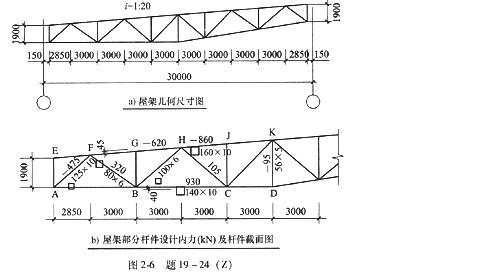 单坡倒梯形钢屋架