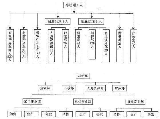 国企项目组织结构图