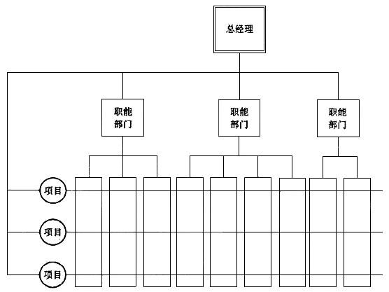 下图表示()组织结构.a.职能型b.直线职能型c.项目型d.矩阵型