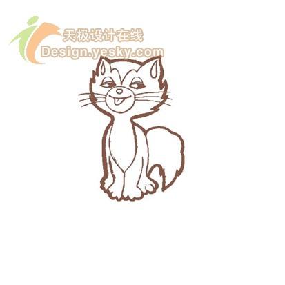 打开一幅小猫的简笔画图片