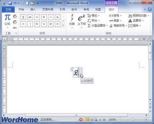 10中创建包含导数符号的公式