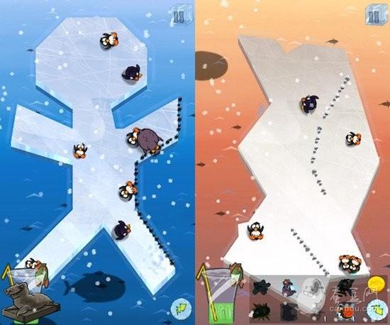 企鹅站在冰块上简笔画