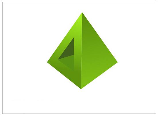 步骤四,和步骤三一样,使用同样的方法来绘制右边两个三角形,如图