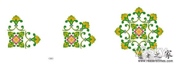 illustrator设计绘制古典花纹壁纸
