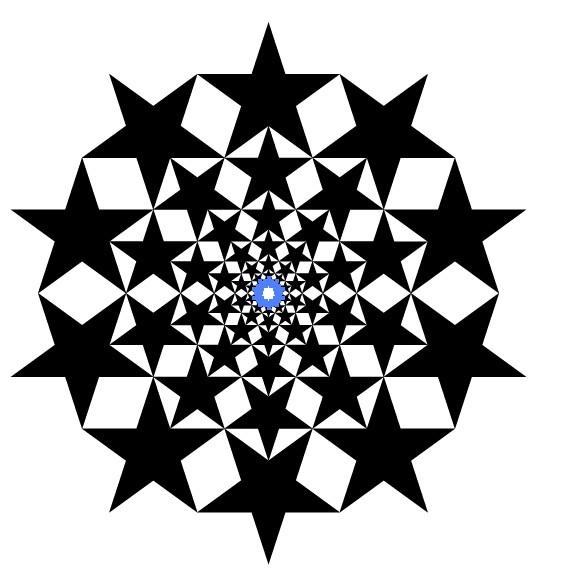 计算机/互联网 平面设计 illustraor > ai绘制复杂五星构成图案