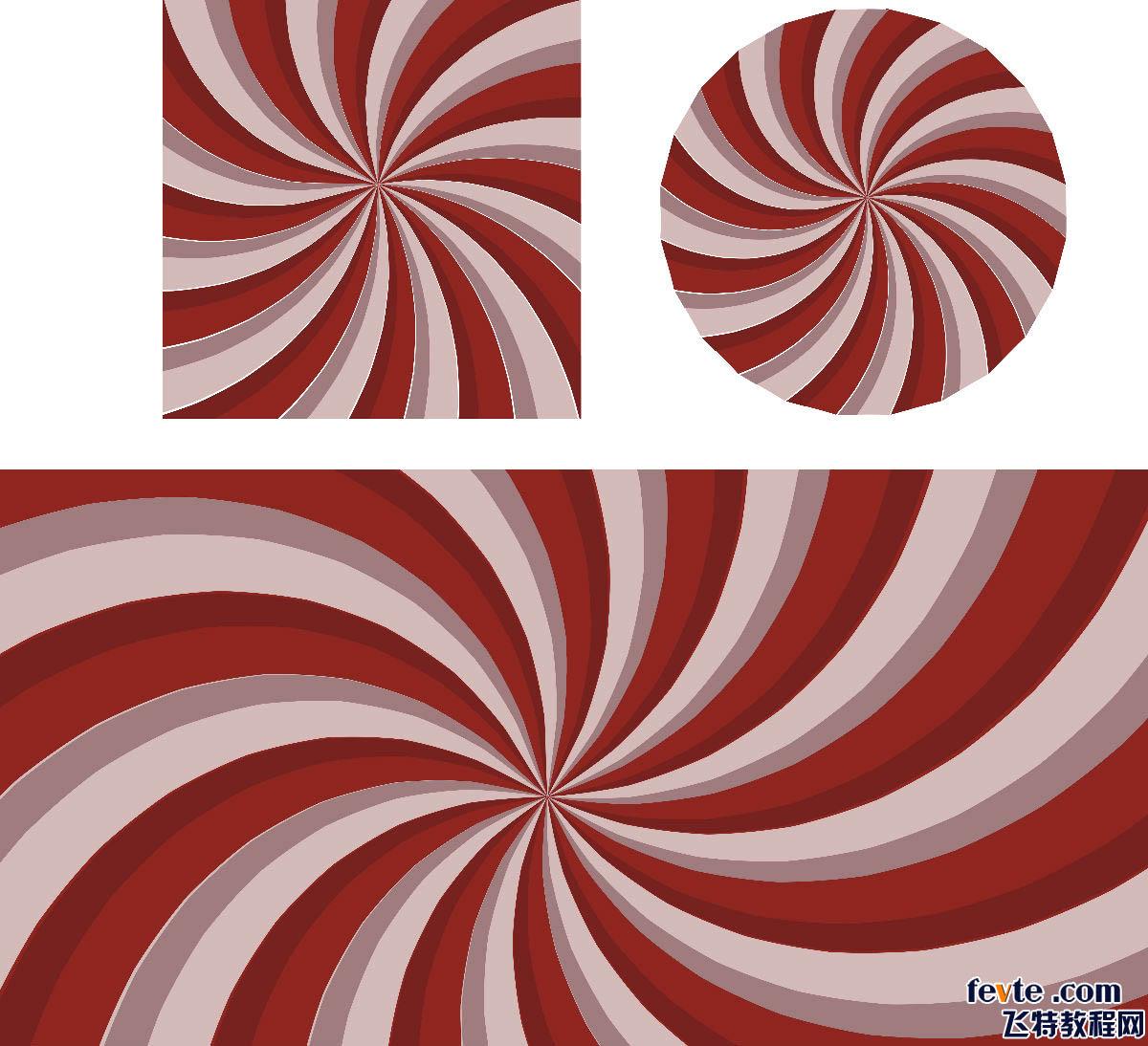 平面设计 coreldraw > cdr变形工具绘制螺旋背景    下面要做旋转的