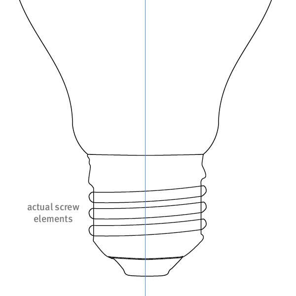 电灯泡简笔画简笔画