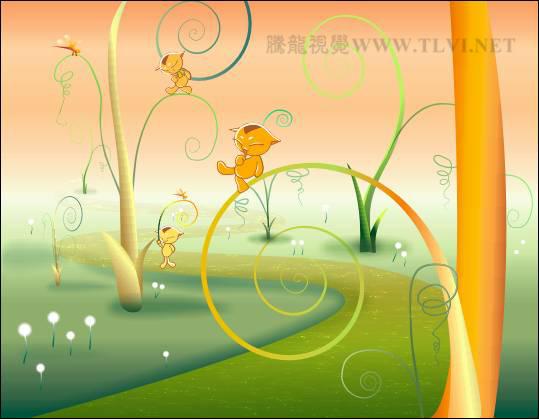 cdr彩色铅笔绘制卡通童话故事插图