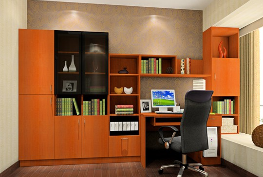 书房室内装修设计 - 百科教程网