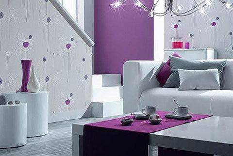 适宜:搭配浅色家具的客厅