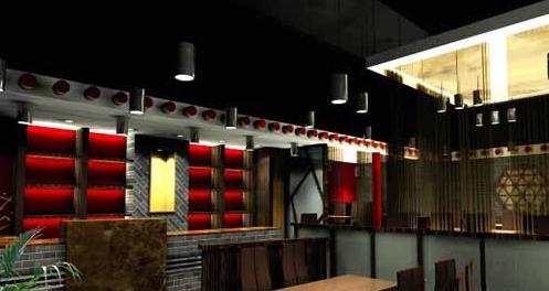 现代简约中式餐厅装修设计