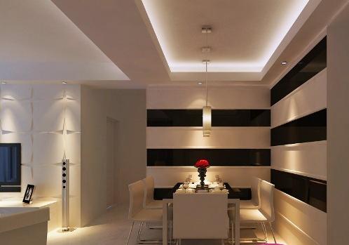 2012最潮客厅餐厅吊顶设计