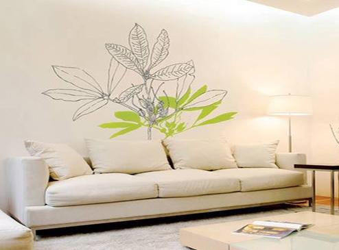 客厅手绘墙设计