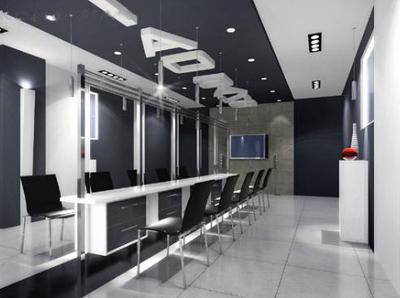 时尚美发店发廊装修设计