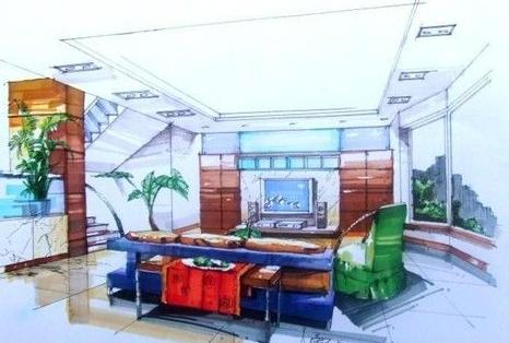 室内设计效果图手绘
