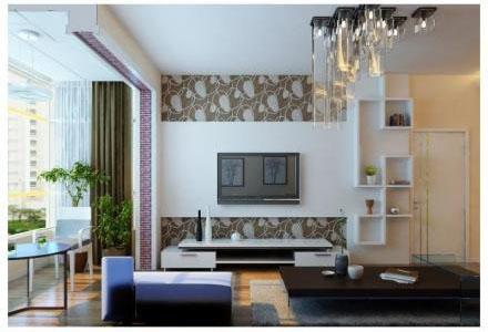 唯美空间 现代客厅背景墙