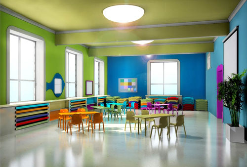 室外之分,小型幼儿园多在室内