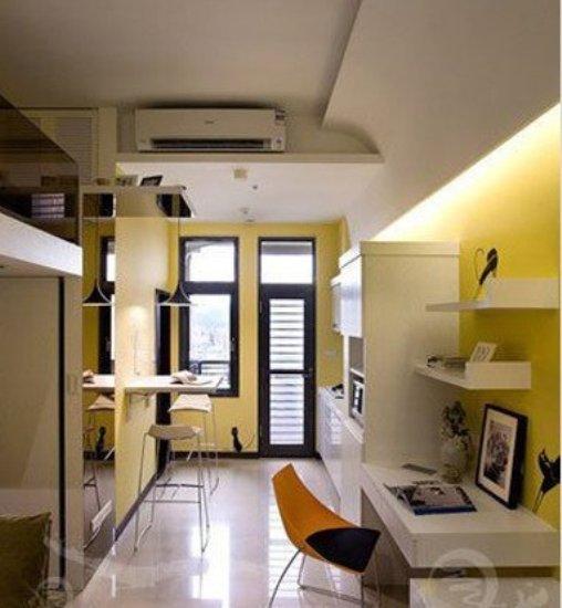 生活百科 家居装修 室内设计理论 > 简约风格黄色装修单身公寓装修