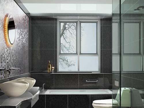 现代简约风格的装修搭配欧式风格的壁灯,相映生辉栩栩如生,卫生间也