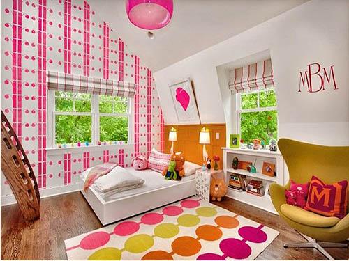 彩色儿童卧室装修效果图