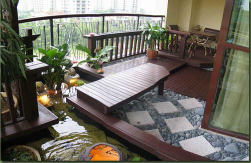 阳台花园设计小露台花园设计效果图,怎样布置一个舒适而功能齐全的