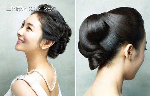2013四款韩式新娘盘发发型图片欣赏