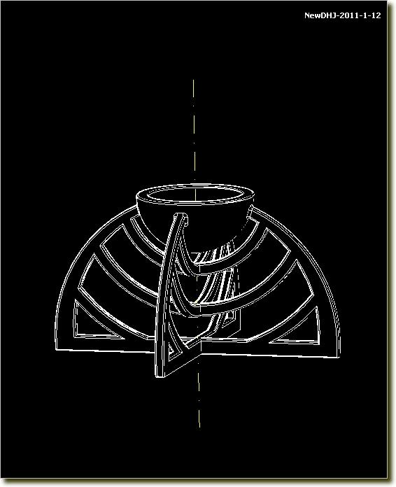 autocad绘制烛台的画法