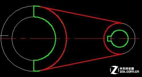件为例,左侧半圆柱体的下端面,比右侧圆筒的下端面高4mm,而中间图片