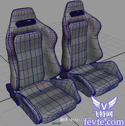 maya nurbs 汽车坐椅建模