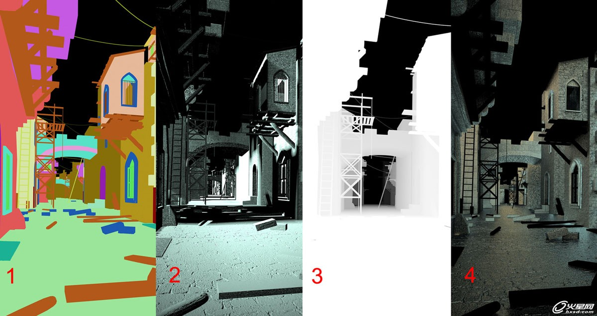 3ds max打造静帧街道场景 三联网 动画教程