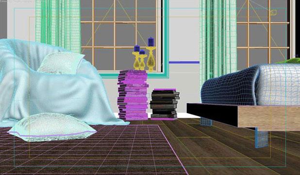 3ds max打造白色清新卧室