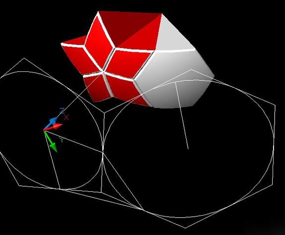 这篇教程教三联的朋友们用AutoCAD打造漂亮的五星足球,教程制作难度一般,属于入门级别的教程吧!转发过来和三联的朋友们一起分享。先来看看最终的效果图: 制作步骤如下: 第一步打开AutoCAD,在俯视图画一个正五边形和一个正六边形边长取50(可以随意)。