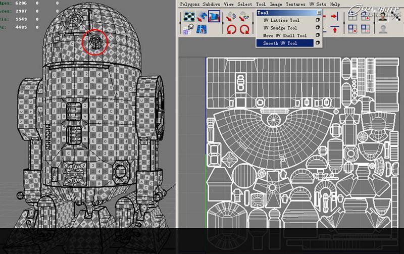 maya制作 星球大战 中的机器人r2d2 脚本之家 maya建模教高清图片