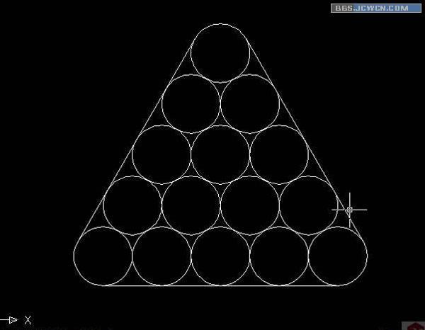 7,用圆角命令对刚刚画的三条直线倒角!注意:倒角半径=0!