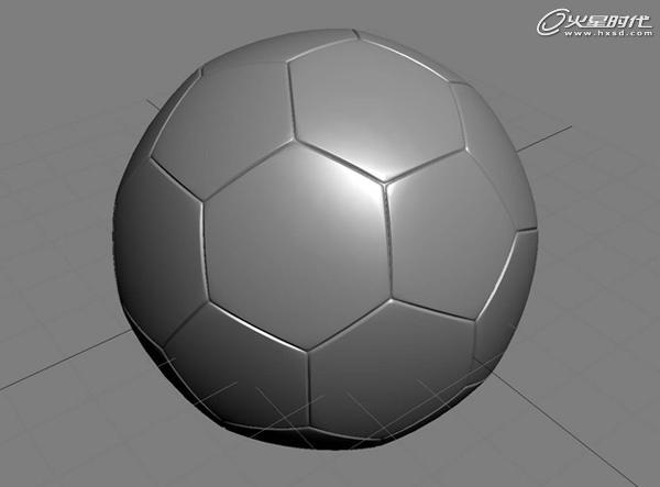 3dsmax制作足球贴图