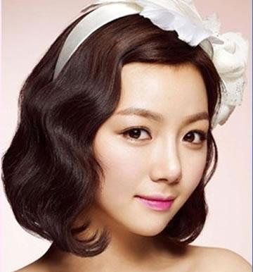清新韩式短发新娘造型